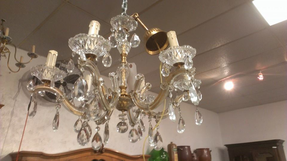 Used old vintage antique light fixtures sconces chandelier prisms and parts