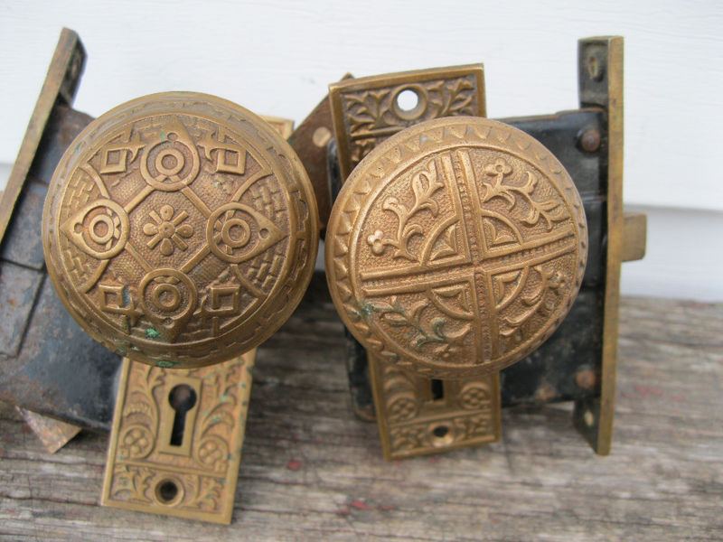 ... Antique EastLake Door knob with plate, lock for $100. Click lower right  for Info ... - Old Is Better Than New - Antique Hardware From Doors Or Cabinets